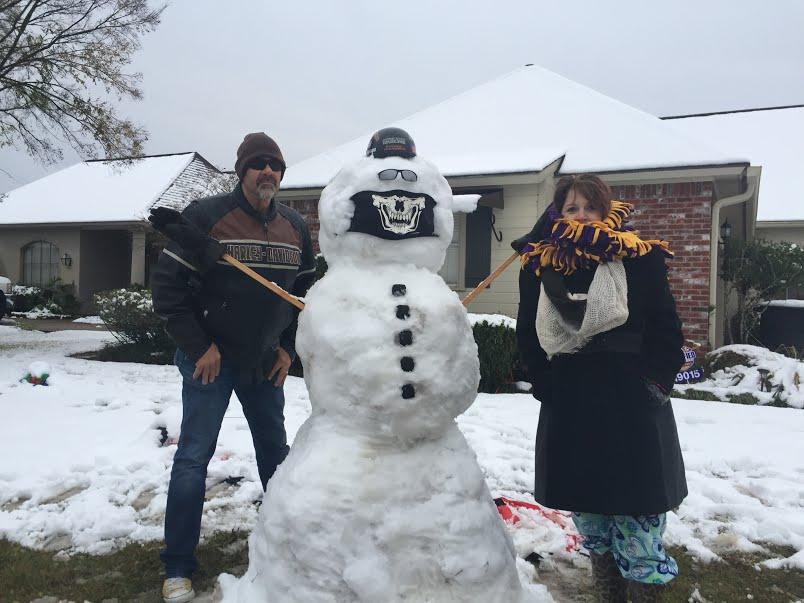 Craig Sandy biker snowman